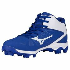 Mizuno Advanced Franchise 8 MID YOUTH Baseball Molded Cleats NIB Royal/White