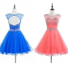 Short Beaded Prom Ball Dresses Cocktail Evening Gown Bridesmaid Sweet 16 Party