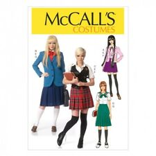 McCalls Ladies Sewing Pattern 7141 School Girl Costumes (McCalls-7141-M)