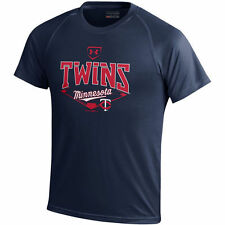 Minnesota Twins Under Armour Youth Tech Performance T-Shirt - Navy - MLB