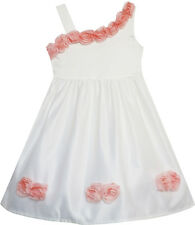 Sunny Fashion Girls Dress Asymmetric One Shoulder Flower Girl Party Size 2-6