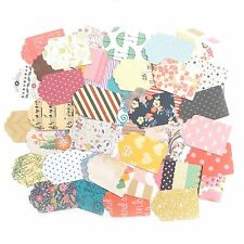 25 X Mixed Patterned Paper Tags Scrapbooking Craft Cardmaking Vintage Toppers