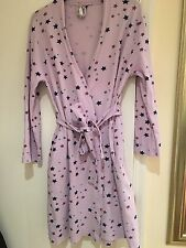 BHS purple Dressing Gown Bath Robe With Stars (Size 8 / 10)