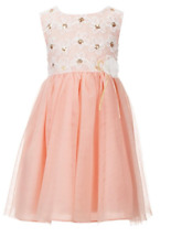 Bonnie Jean Girls Peach Easter Spring Summer Pageant Party Dress 4 5 6 6X