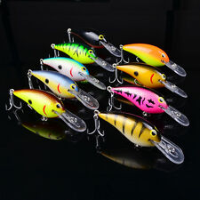 "1pc Fishing lures 4.1""-10.5cm/18.5g Crankbaits 9 color Fishing Bait 4# Hook Bass"