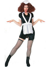 Ladies Rocky Horror Show Magenta Outfit Fancy Dress Costume New French Maid