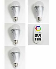 2.4G Wireless LED RGBW Bulb E27 6W/9W Lamp RF Touch Controller and WIFI Adapter