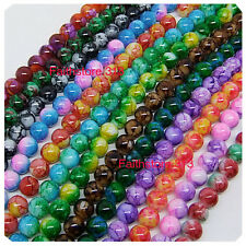 40 pcs 6mm Round Chic Glass Loose Spacer Bead Pick 15 Colors -1 Or Mixed DIY G06