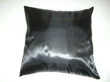 """silky satin cushion cover 17""""x17"""" scatter black blue plum pink red berry purple"""