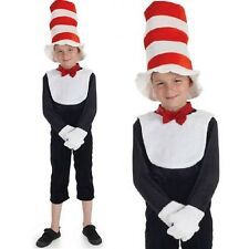 Childrens Mr Tom Fancy Dress Costume & Hat Kids Childs Book Day Cat Outfit New