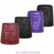 New Womens Ladies Pu Party Sexy Faux Leather Short Mini Skirt