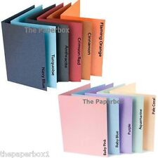 A6 Pearlescent Card Blanks (pastels & vibrants) & White Pearl Envelopes