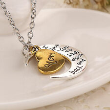 I LOVE YOU to the moon and back mum/sister/grandma Mother's Day Necklace Gift