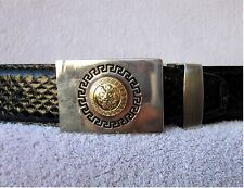GENUINE BLACK SNAKESKIN MENS BELT ALL SIZES & Choice Of 10 Buckles NEW NWOT