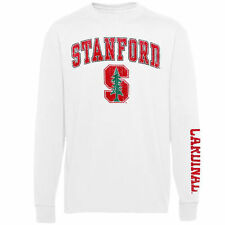 Youth Stanford Cardinal White Distressed Arch & Logo Long Sleeve T-Shirt