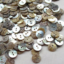New Upick 11/13/15/23mm Shell Buttons Sewing Craft Buttons 2 Holes100pcs