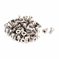 M5 x 10mm Phillips Round Head Stainless Steel Countersunk Bolt Screw 50pcs