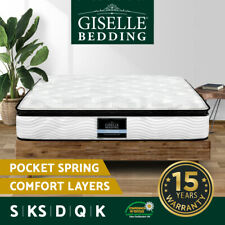 Mattress Queen Double King Single Pillow Top Latex Pocket Spring Foam Bed