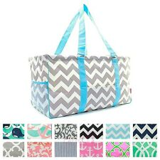 "23"" Large Deluxe Utility Tote Bag Pool Beach Diaper Picnic Basket Laundry Trunk"