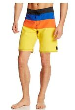 Quiksilver Cypher No Frills Boardshorts Blue Orange Yellow Stripe Board Short