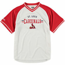 St. Louis Cardinals Stitches Youth V-Neck Jersey T-Shirt - White/Red - MLB