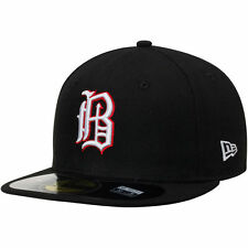 Men's New Era Black Birmingham Barons Authentic Home 59FIFTY Fitted Hat