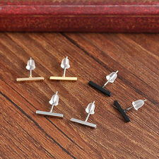 2pcs Punk Women Simple Tiny Bar fashionable Earrings Stud Cute Bar Earring Stud