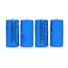 1-6PCS 3.7V 1200mAh CR123A 16340  Rechargeable Li-ion Battery torch