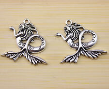 10/30/50 pcs wholesale very beautiful  Tibet silver sea-maid charms Pendants