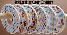 Custom Closet Size Dividers Clothes Organizer Baby Boy Western Cowboy Cow Boy II