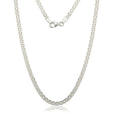 Sterling Silver Italian 3.5mm Bizmark Chain Necklace
