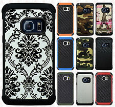 For Samsung Galaxy S7 EDGE Rubber IMPACT TRI HYBRID Hard Case Skin Phone Cover