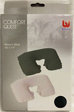Bestway Comfort Quest Inflatable Flocked Travel Pillow - 2 Colours