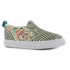 Vans Kids Asher V Infants Casual Shoes Trainers Flats Canvas Slip On Sneakers