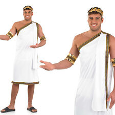 Mens Julius Caesar Fancy Dress Costume Ancient Roman Toga Outfit Adult M-XL