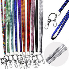 Lanyard Rhinestone ID Card Badge Neck key Mobile Cell Phone Strap Diamonte US