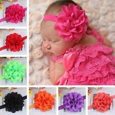 12 Colors Kids Baby Girl Toddler Cute Lace Flower Headband Hair Band Headwear