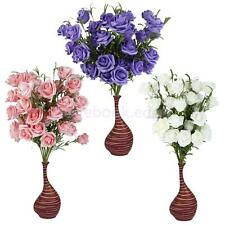 1 xArtificial Fake Roses 5-Head Flowers Plants Bouquet Rustic Wedding Home Decor