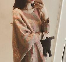 Fashion Womens Knitted Sweaters Loose Korean Free Size Cardign Casual Jackets