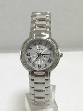 Women's Bulova 96R167 Stainless Fairlawn Diamond Accented Case White Dial Watch