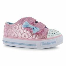 Skechers Kids Girls Twinkle Toes Starlight Infants Trainers Canvas Lo Shoes