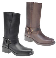 Gringos Mens Cowboy Leather Pull On Heeled Boots Size 6-12
