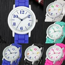 Brand New Womens Jelly Silicone Band Dial Quartz Analog Sports Wrist Watch Gift