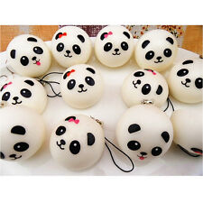 1PCS Cute Panda Squishy Kawaii Buns Bread Charms Key/Bag/Cell Phone Straps