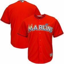 Miami Marlins Majestic Official Cool Base Jersey - Firebrick - MLB