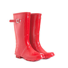 NEW Red Kids Childrens Skeanie Gumboots Wellies Rainboots
