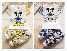 2pc cotton kids baby boys Cartoon T-shirt&pants Set Outfits summer fall clothing