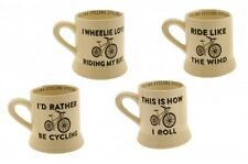 Mug/Ceramic Tea/Coffee/Beverage Cup ~ CYCLING/BIKE Theme ~ 4 Assorted