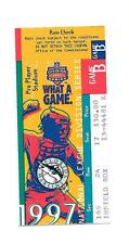Florida Marlins Playoff Ticket Stub B From Oct 1 1997 vs Giants 10/1/97