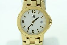 Ladies ESQ Movado 07100881 Crestone Gold-Tone Stainless Steel Dial Date Watch